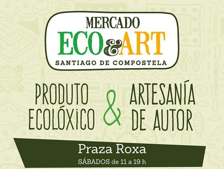 Sábado de compras e mercado ecolóxico no Ensanche de Compostela