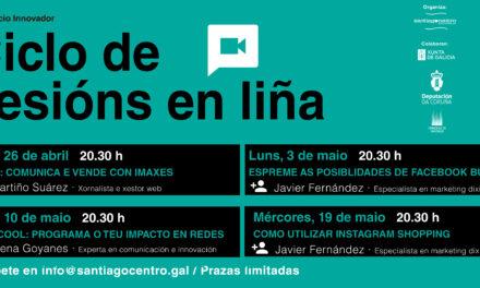 Novo ciclo de sesións en liña para comerciantes de Santiago Centro, centrado en aplicacións de marketing e vendas